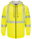 Hi-Vis Zip-Front Hooded Fleece Sweatshirt