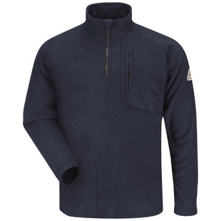 Bulwark Flame Resistant 1/4 Zip-Front Modacrylic Fleece Sweatshirt - Click for Large View