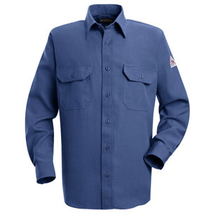 Bulwark Nomex IIIA Flame Resistant 4.5 oz. Button Front Deluxe Shirt - Click for Large View