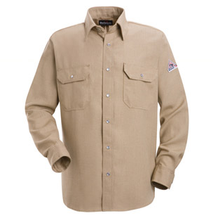 Bulwark Nomex IIIA Flame Resistant 4.5 oz. Snap Front Deluxe Shirt - Click for Large View
