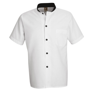 Chef Designs Black Trim Cook Shirt - Click for Large View