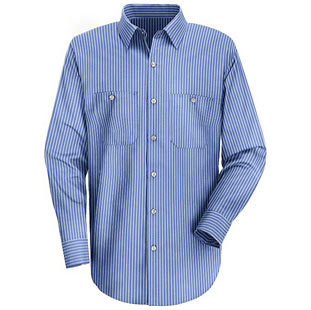 Classic Striped Auto Work Shirt - Click for Large View