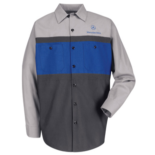 Mercedes Benz Long Sleeve Technician Shirt - Click for Large View