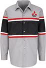 Mitsubishi Striped Technician Long Sleeve Shirt