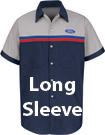 Ford Striped Technician Long Sleeve Shirt