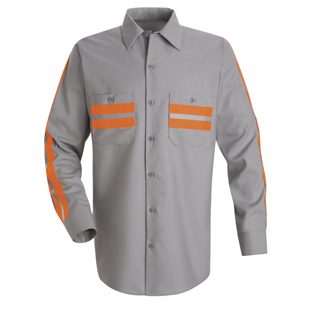 Red Kap Enhanced Visibility Long Sleeve Shirt - Click for Large View