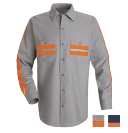 Red Kap Enhanced Visibility Long Sleeve Shirt