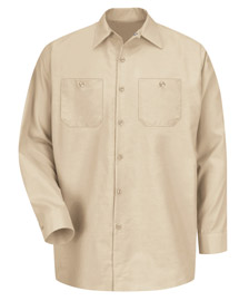 Red Kap Men's Solid Color Long Sleeve Industrial Work Shirt