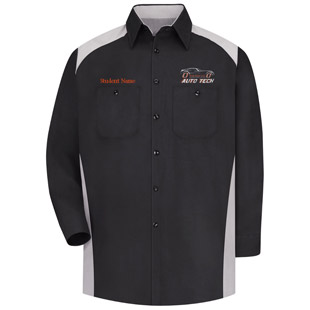 Osseo Senior High School Advanced Auto Tech Long Sleeve Motorsports Shirt - Click for Large View