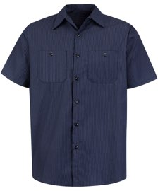 Red Kap Men's Durastripe Short Sleeve Work Shirt