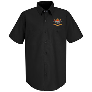 Cherokee High School Black Technician Work Shirt - Click for Large View