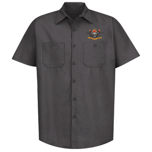 Cherokee High School Charcoal Technician Work Shirt - Click for Large View