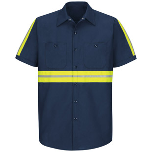 Enhanced Visibility Industrial Short Sleeve Shirt - Click for Large View