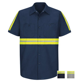 Red Kap Enhanced Visibility Industrial Short Sleeve Shirt
