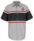 Mitsubishi Striped Technician Short Sleeve Shirt