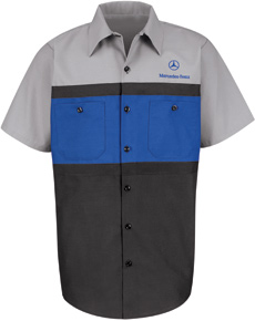 Mercedez Benz Short Sleeve Technician Shirt - Click for Large View
