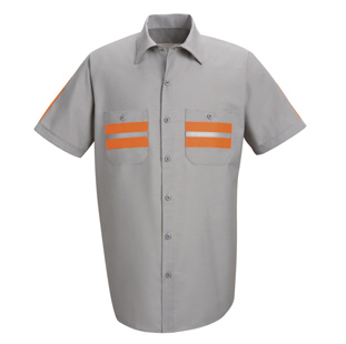 Red Kap Enhanced Visibility Short Sleeve Shirt - Click for Large View