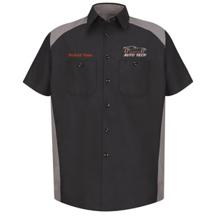 Osseo Senior High School Advanced Auto Tech Short Sleeve Motorsports Shirt - Click for Large View