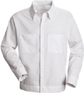 Red Kap Men's Hospitality Poly-Cotton Blend Long Sleeve Shirt Jac