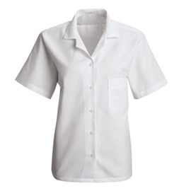 Red Kap Women's Short Sleeve Housekeeping Uniform Blouse