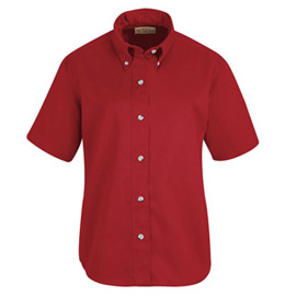Red Kap Women's Button Down Poplin Short Sleeve Shirt