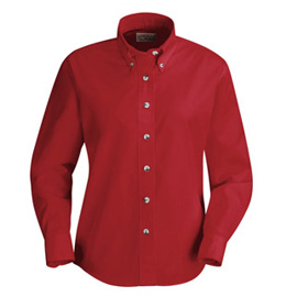Red Kap Women's Button Down Poplin Long Sleeve Shirt