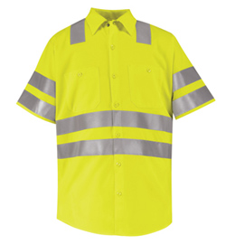 Red Kap Hi-Visibility Short Sleeve Work Shirt - Class 3 Level 2