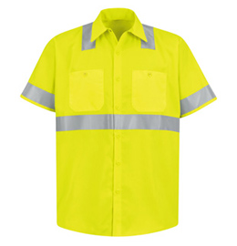Red Kap Hi Visibility Short Sleeve Shirt - Class 2 Level 2
