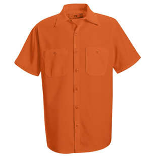 Red Kap Enhanced Visibility Orange Short Sleeve Shirt - Click for Large View