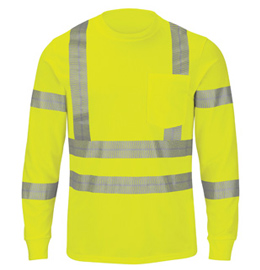Red Kap Performance Hi-Visibility Long Sleeve Tee - Type R, Class 3