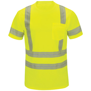 Red Kap Performance Hi-Visibility Short Sleeve Tee - Type R, Class 3 - Click for Large View