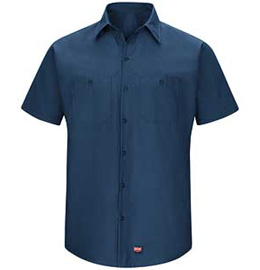 Red Kap Men's MIMIX Short Sleeve Work Shirt
