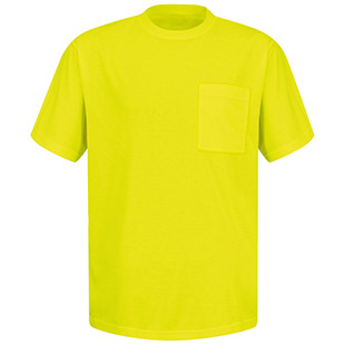 Red Kap Short Sleeve Yellow T-Shirt Without Reflective Stripe - Click for Large View
