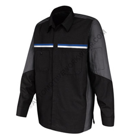 Men's Long Sleeve Crew Shirt with Dual Chest Stripe