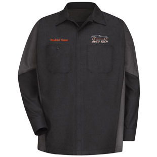 Osseo Senior High School Auto Tech Long Sleeve Crew Shirt - Click for Large View