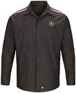 Mercedes Long Sleeve Crew Shirt with Reflective Striping
