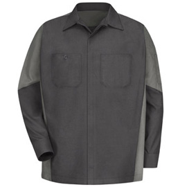 Red Kap Men's Long Sleeve Mechanics Crew Shirt