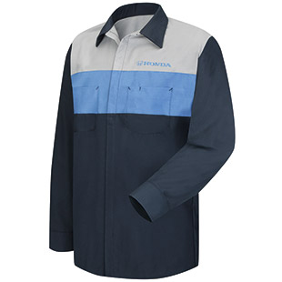 Honda Long Sleeve Technician Shirt - Click for Large View