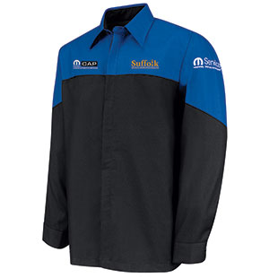 Suffolk County Community College Mopar Long Sleeve Technician Shirt - Click for Large View