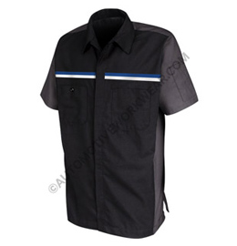 Red Kap Men's Short Sleeve Crew Shirt with Dual Chest Stripe