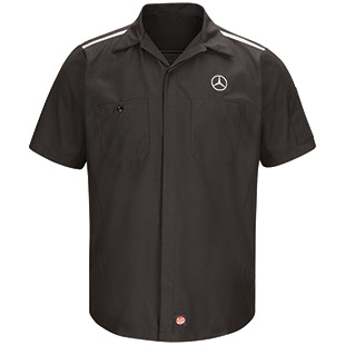 Mercedes Short Sleeve Crew Shirt with Reflective Striping - Click for Large View