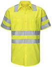 Red Kap Hi-Visibility Short Sleeve Ripstop Work Shirt - Type R, Class 3