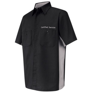 Certified Service Short Sleeve Technician Shirt - Click for Large View