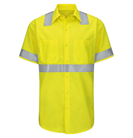 Red Kap Hi-Visibility Ripstop Short Sleeve Work Shirt - Type R Class 2