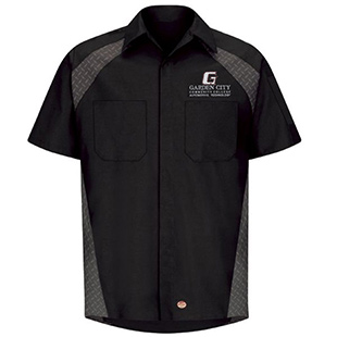Garden City Community College Diamond Plate Shop Shirt - Click for Large View