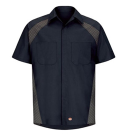 Diamond Plate Short Sleeve Shop Shirt