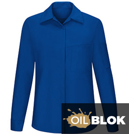 Women's Performance Plus Long Sleeve Shop Shirt with OilBlok Technology