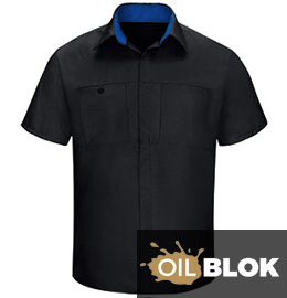 Red Kap Performance Plus Shop Shirt with OilBlok Technology