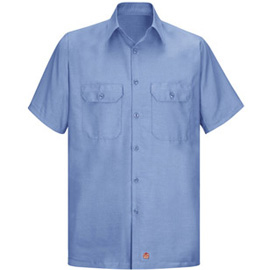 Red Kap Solid Rip Stop Short Sleeve Shirt