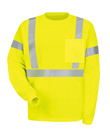 Red Kap High Visibility Long Sleeve T-Shirt  - Class 2 Level 2